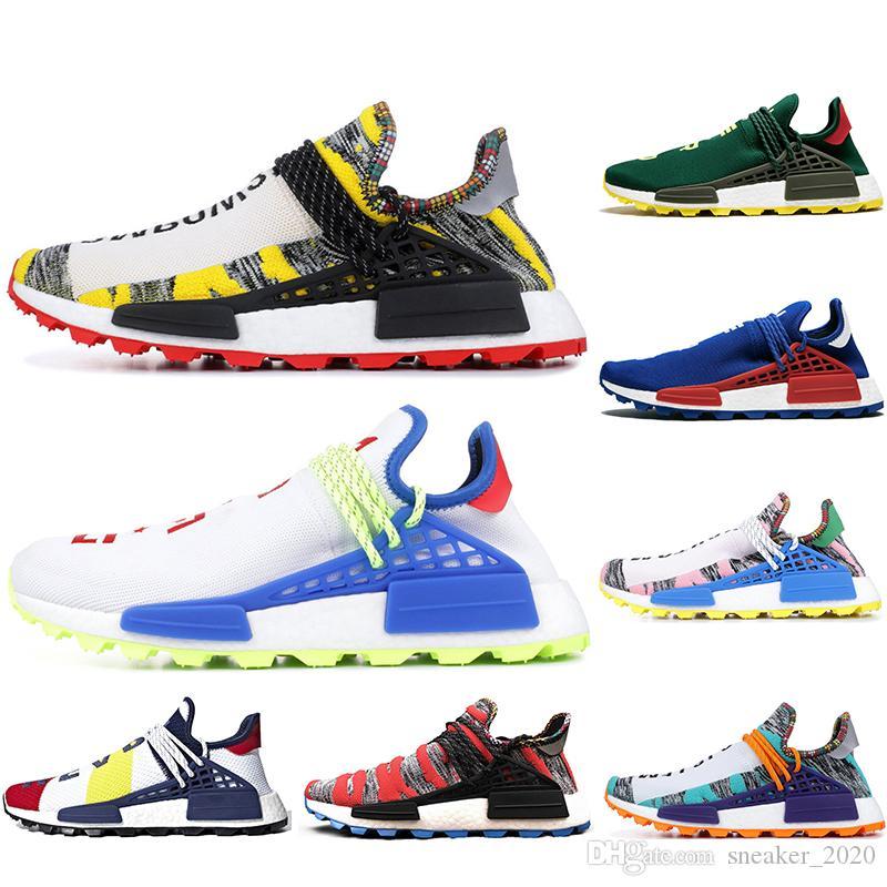 Adidas mit Socken neue Human Race Herren Laufschuhe Pharrell Williams Probe BBC SOLAR PACK NERD Creme Sport Designer Schuhe Frauen Turnschuhe 36-45