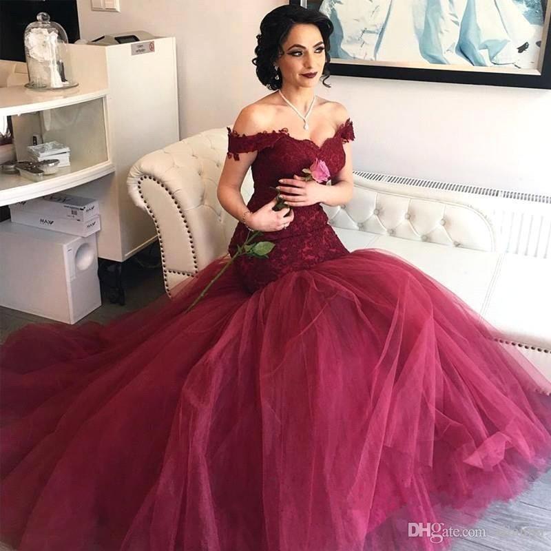 Acheter Bordeaux Rouge Foncé Robe De Marié
