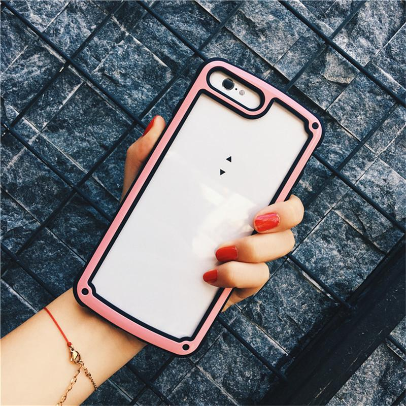 Coréia do telefone à prova de choque transparente case para iphone x xs max xr 8 7 6 s 6 plus galaxy s8 s9 além de nota 9 8 para huawei nova 3i capa protetora