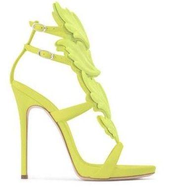 Fre 2020 кожа огонь Лист Женщины стилет высокий каблук plartform Свадьба партии Летняя обувь более цветов Размер 35-42
