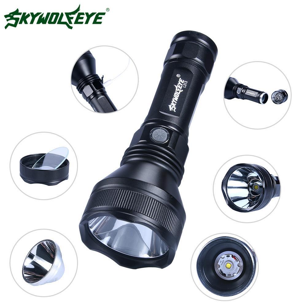 Skywolfeye30w Yüksek-güç P50 Alüminyum Alaşım Işık Led El Feneri Özelleştirilmiş Işık Feneri Aşan