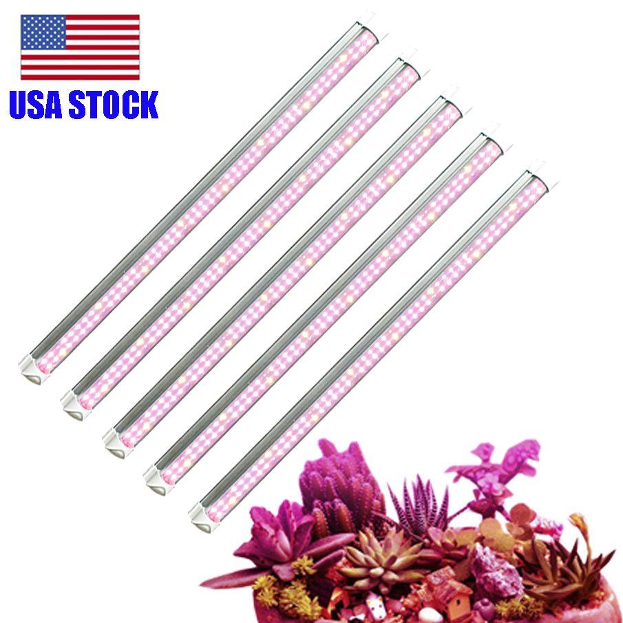 White Light Full Spectrum LED wachsen Licht, 2-Reihe V-Form T8 Integrierte Wachsende Lampen-Befestigung für Zimmerpflanzen Packung mit 5 Stock in USA