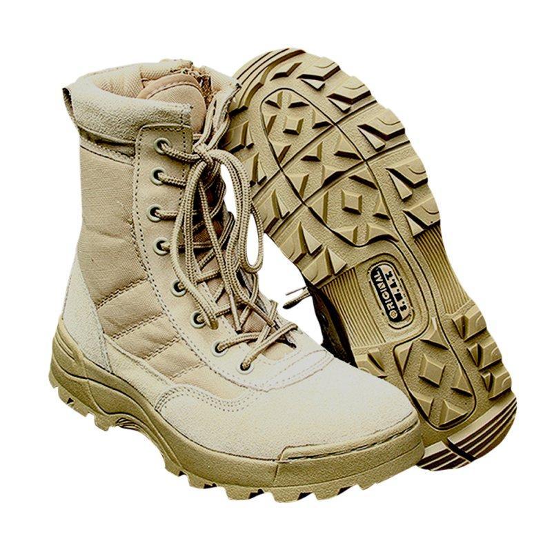Entusiastas tático botas de deserto Outdoor Caminhadas Camping marinho militar Sapatos Masculinos de combate de D-B Outdoor Army Men Shoes Pesca