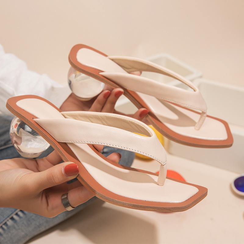 Scarpe Donna Sandali c trasparente chiaro Med scarpe tacco tacco aperta tutto l'anno Toed Slipper sandali per il partito delle donne pompe 43