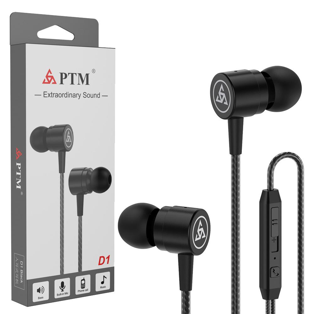 Metal Earphone 3.5MM In-Ear Wired Control With MIC for Huawei Xiaomi iphone apple Samsung S10 S9 S8 Smartphone