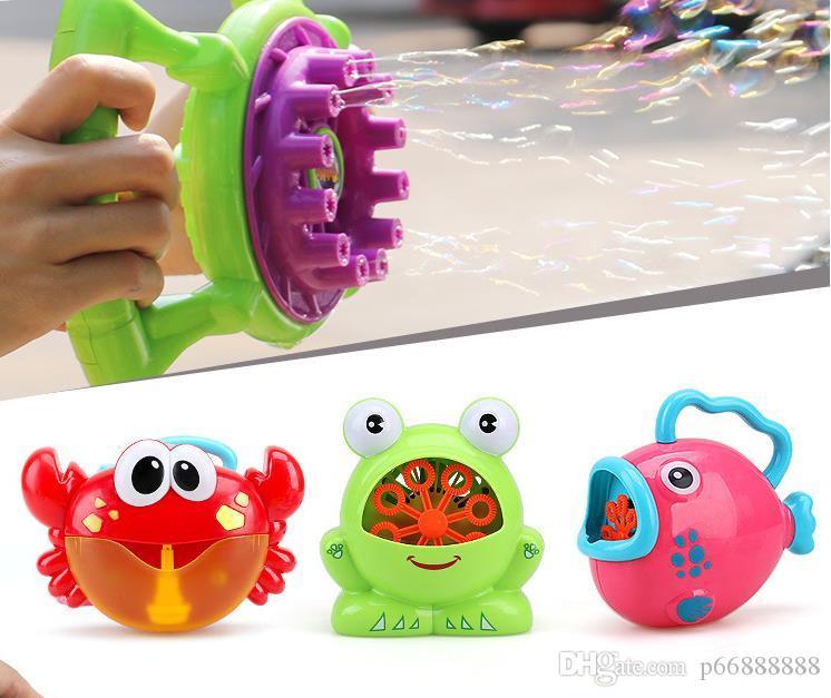Nueva burbuja completamente automática Máquina juguete infantil de baño, Burbuja de la rana, cangrejo de agua