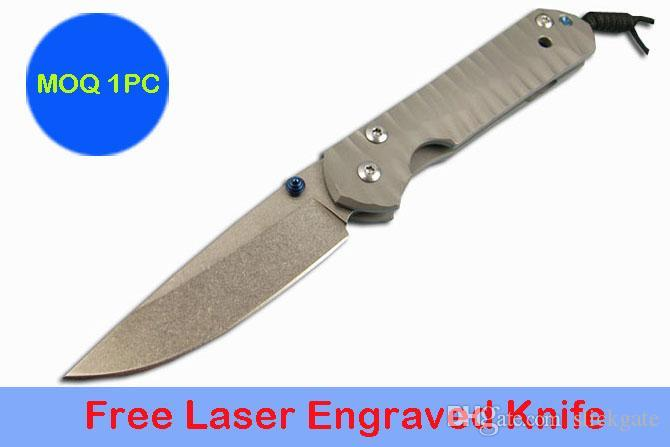 MOQ 1PC Free Personalized Small Chris Reeve Sebenza 21 Folding Knife Laser Engraved LOGO D2 Blade Camping Hunting Pocket Gift Knives P136R F