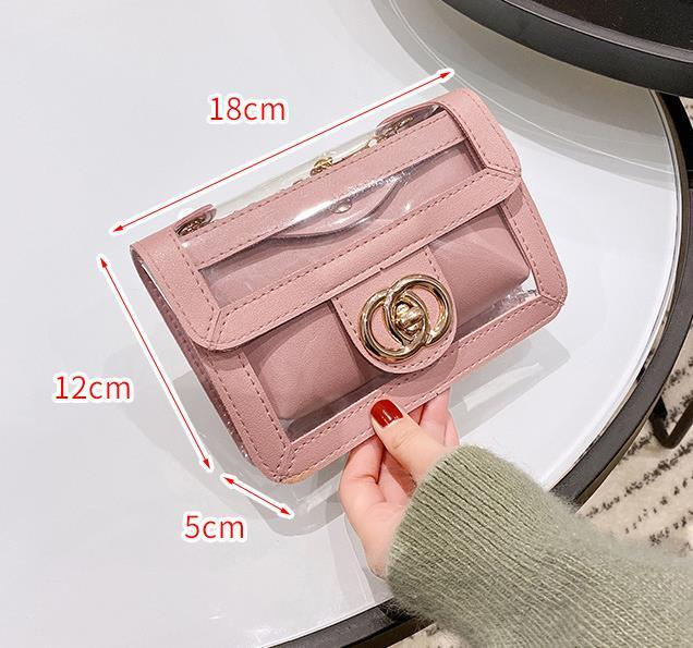 Bolsa de lujo diseñador 2020 verano nueva madre-hijo paquete transparente de la cadena bolsa de Corea del bolso de la jalea del bolso del bolso del hombro del envío de la gota