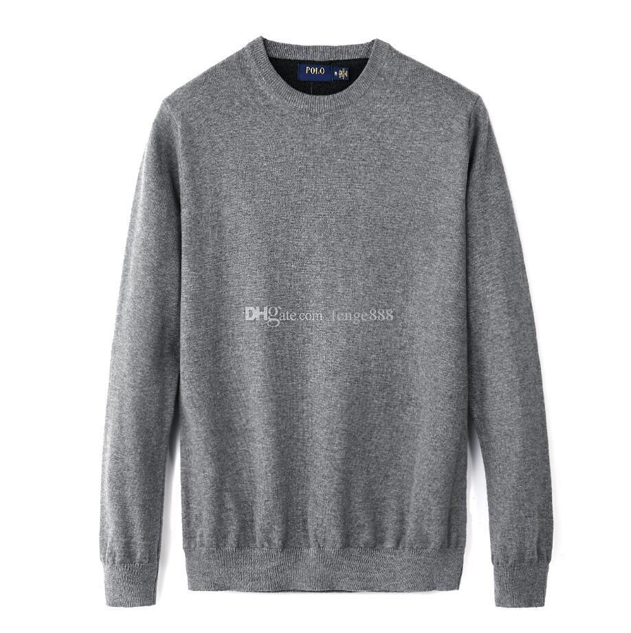 Wool Sweater Men Hoodies Sweaters O-neck Knit Warm Pullover Sweater Plus Size M-2XL Male Polo Sweaters