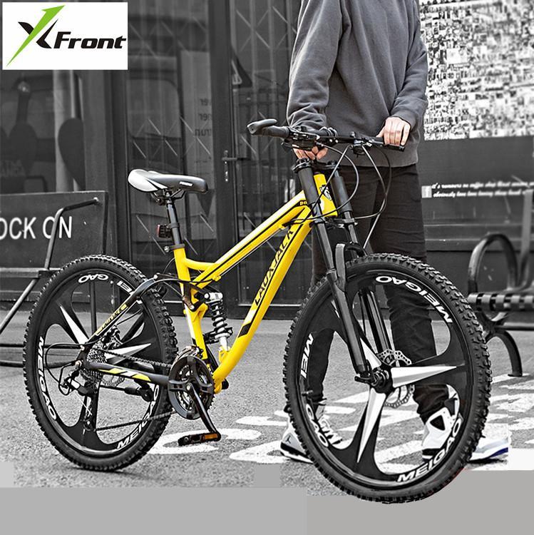 Cadre de vélo de montagne en acier au carbone 24 26 pouces roue arrière 27 Vitesse douce Suspension VTT Descente Cyclisme Sport