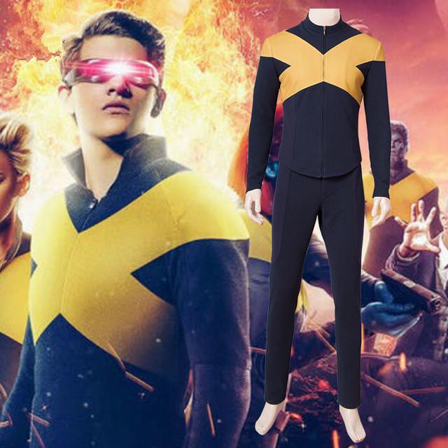 2019 X-Men Dark Phoenix Jean Gris Cosplay Costume Combinaison Uniforme