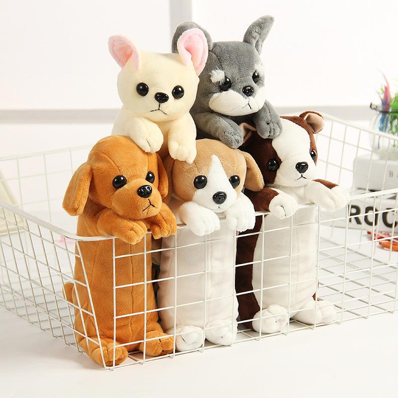 Корейский творческие детские плюшевые игрушки куклы щенок пенал студент канцелярские животное пенал