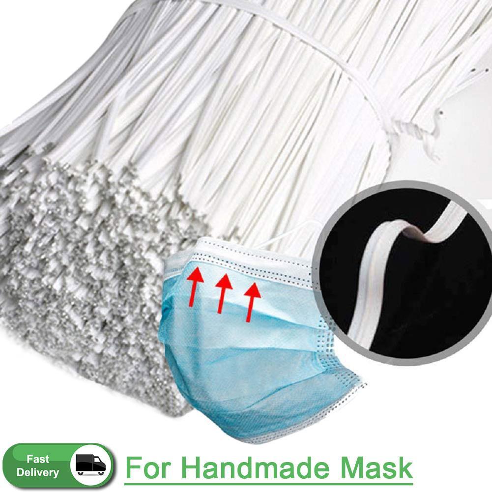 Frete grátis Nariz Ponte de máscara branca PE plástico dobrável fio flexível Torça gravata Ponte de Arame 100x3 mm (1pcs = 1000)