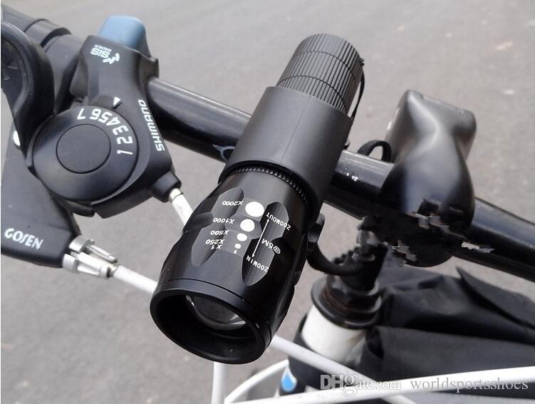 New Bicycle Light 7 Watt 2000 Lumens 3 Mode CREE Q5 LED cycling Front Light Bike lights Lamp Torch Waterproof + Torch Holder 229 #79150