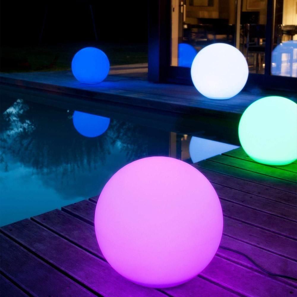 Lampada a sfera sferica ricaricabile a LED a colori ricaricabile BRELONG con telecomando, luce notturna dimmerabile per feste in piscina da casa 12 cm