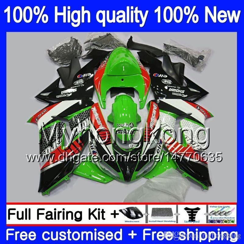Nadwozie do Kawasaki ZX 10 R ZX1000C ZX-10R 2006 2007 215MY.0 ZX1000 C ZX10R 06 07 ZX 1000CC ZX 10R 06 07 ABS Wishing Kit Hot Green Black