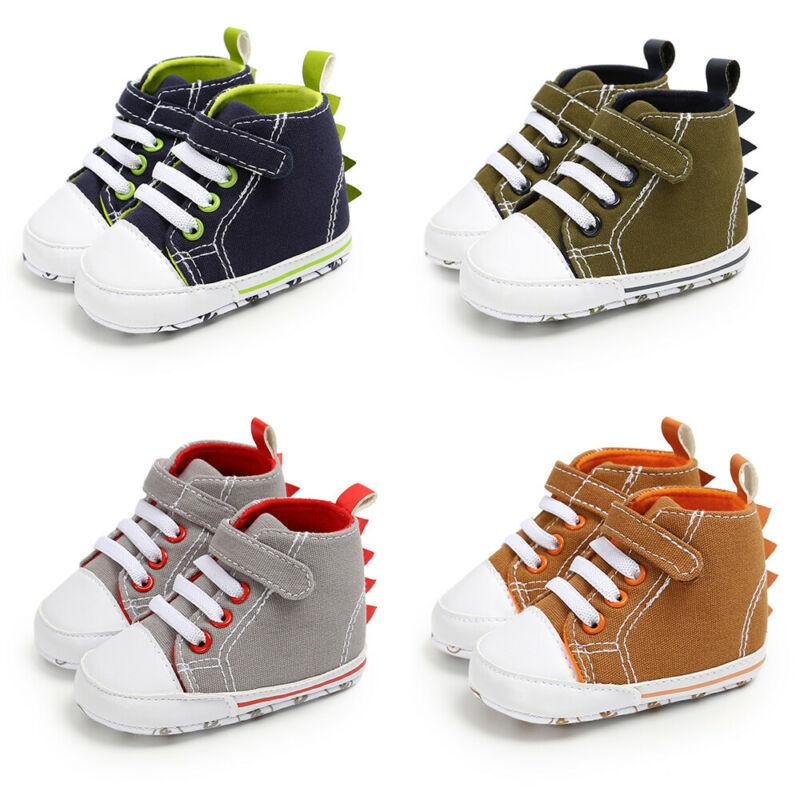 Baby Boy Girl Soft Pram Shoes Toddler Pre Walkers First Trainers Newborn to 18 M