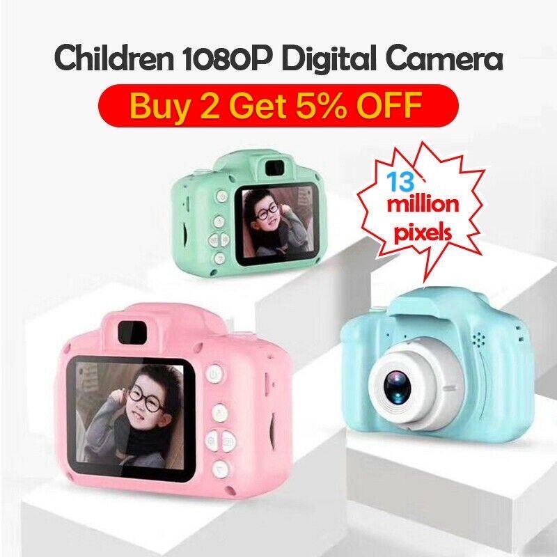 2020 Горячие Продажи Детские Камеры Дети Мини Цифровая Камера Симпатичные Мультфильм Камеры 8MP SLR Камеры Игрушки для подарка на день рождения 2 дюйма