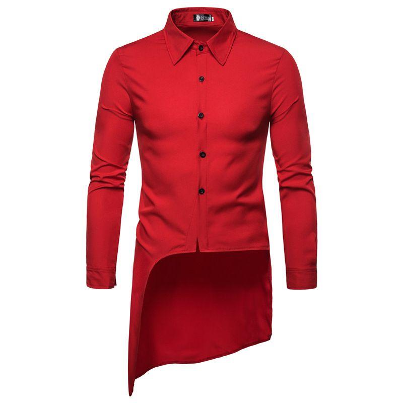 Comércio exterior homens novos de auto-cultivo corte longo parágrafo andorinha camisa de manga comprida vento britânico tamanho grande camisa de mangas curtas