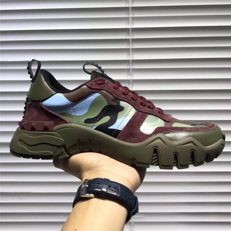 2020 New Men Marka Günlük Ayakkabılar Tasarımcı Kamuflaj Moda Ayakkabılar Lüks Yüksek Kalite Çift Sokak Ayakkabı Eur Boyut 911292CE