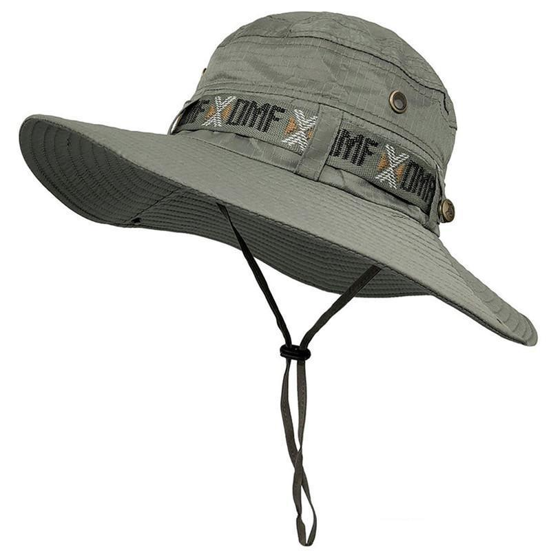 Army Men Tactical Sniper Cappelli Sun Boonie Hat Summer Sun-protezione Cap Uomo Pesca Cap Hunt Cappello Nepalese