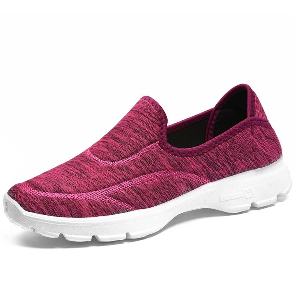 Ladies Causal Shoes Platform Comfortable Lissome Female Shoes Breathable Fabric Sneaker Slip On Women Shoes