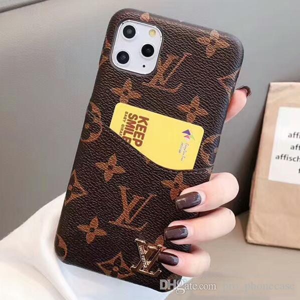 Designer-Telefon-Kasten für iPhone 11 Pro Max 8 8plus für iPhone X XS Max 6 7 7plus Leder-Taschen-Telefon-Kästen