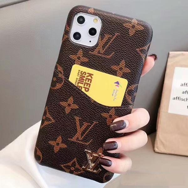 Diseñador de la caja del teléfono iPhone durante 11 Pro Max 8 8plus para iPhone X XS Max 6 7 7plus cuero de la tarjeta de bolsillo casos de teléfono