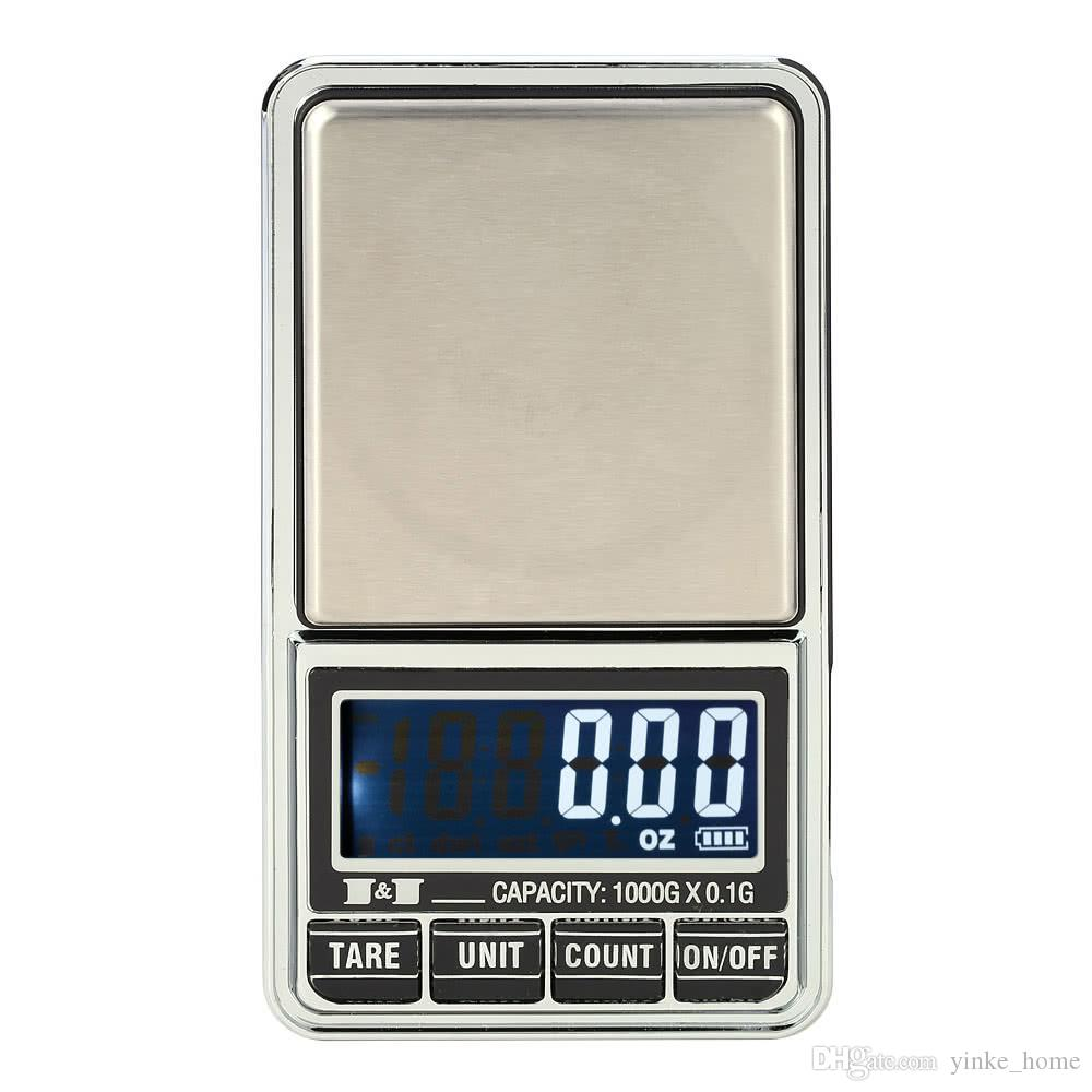 Mini Pocket Digital Scale for Gold Sterling Silver Jewelry Balance Weight Precision Electronic Scales 0.01g/0.1g