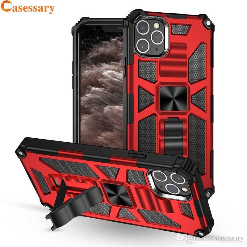 Híbrido Defender à prova de choque Kickstand para o iPhone 12 Pro Max Plus XR XS Samsung Nota 20 S10 5G A20 A70 Companheiro 30 Pro