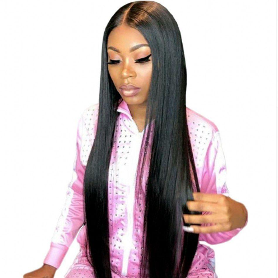 Straight Lace Front Human Hair Wigs with Baby Hair Indian Hair Pre Plucked Lace Wig 130% Density