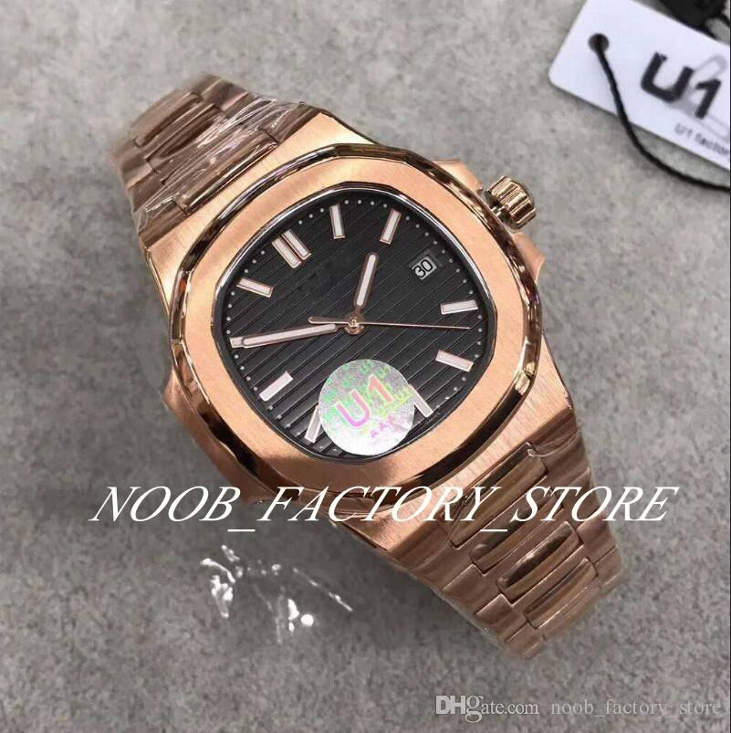 8 Farbauswahl U1 Fabrik Cal. 324 Automatik-Uhrwerk 40mm Nautilus Rose Gold Classic 571 / 1A transparente Rückseite Armbanduhr Herrenuhr