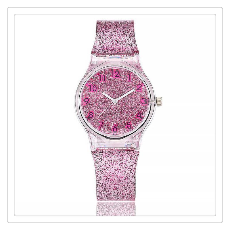 2019 Women Watches Lovely Silicone Transparent Plastic Unique Ladies Girls Dress Quartz Wrist Watch For Gift
