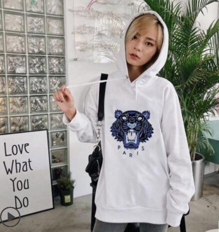 XXLkenzo Herren Designer Hoodieweiß Hoodie Männer Frauen Pullover Langarm-Pullover Marke Hoodies Street Mode Pullover