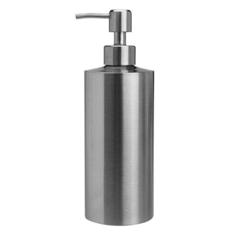 Acciaio inossidabile ricaricabile bottiglia di lozione del sapone liquido della Camera Freestanding Hand Sanitizer Bagno Shampoo container