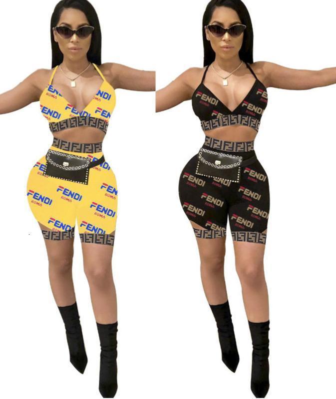 Women 2pcs Bikini Sets Bra Underwears Briefs Summer Tracksuit Printed Letters Jogging Suit Bikini Swimwear