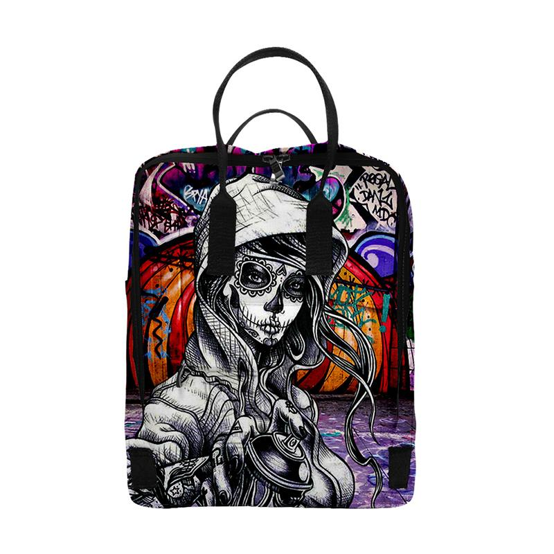 Fashion Print Graffiti Hip Hop Backpacks Men Women School Bags Multi Pocket Travel Bag 3D Teenage Notebook Backpack Shoulder Bag