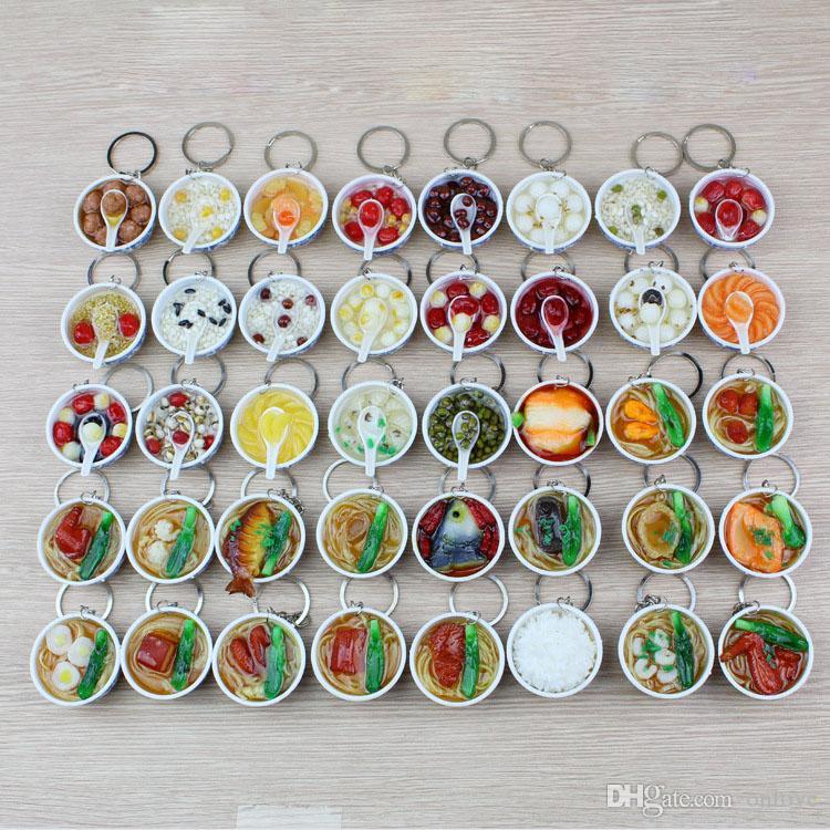 200pcs Simülasyon gıda Anahtarlık pvc yumurta şehriye kolye çocuk mutfak oyuncakları toptan 40 stil ücretsiz gönderim XD22851