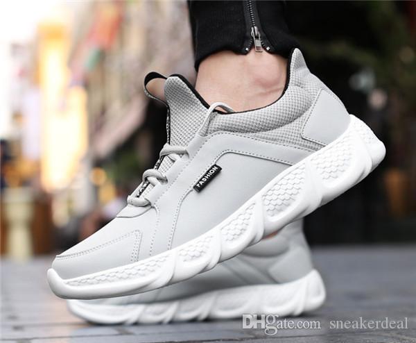 2019 Nouveau Outdoor Hommes Parkour pour Hommes Jogging Marcher Sports Chaussures à lacets de haute qualité Athietic respirante sneakers lame
