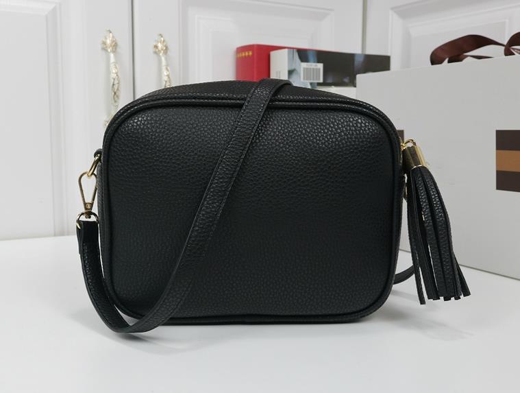 Üst Kalite Tasarımcı çanta Cüzdan Çanta Kadınlar Çanta Çanta Crossbody Soho Çanta Disko Omuz Çantası Saçaklı Messenger Çanta Çanta 22cm