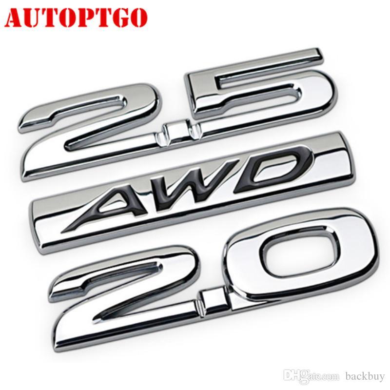 Araç Gövde Kuyruk Harf 4WD AWD 2.5 2.0 Amblem Badge Sticker çıkartma için Mazda CX-5 cip için Dodge Ram Ford F150