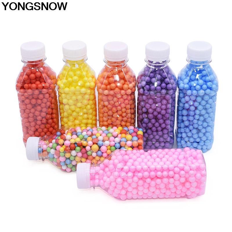 8 milímetros Atacado 1/2 / 5bottles Multicolor isopor Decor Box festa da espuma Bola Beads DIY Craft Filler Pillow / sofá / balão / brinquedo / presente
