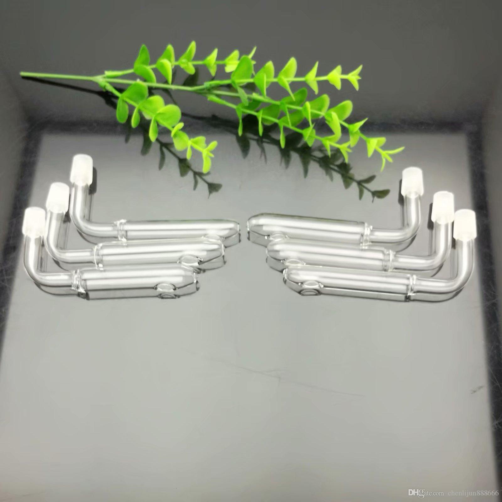 Nuevo tipo Bandeja y plato de vidrio Accesorios de humo de doble uso Cachimba de agua de vidrio Manija Tubos tubos para fumar Envío de alta calidad