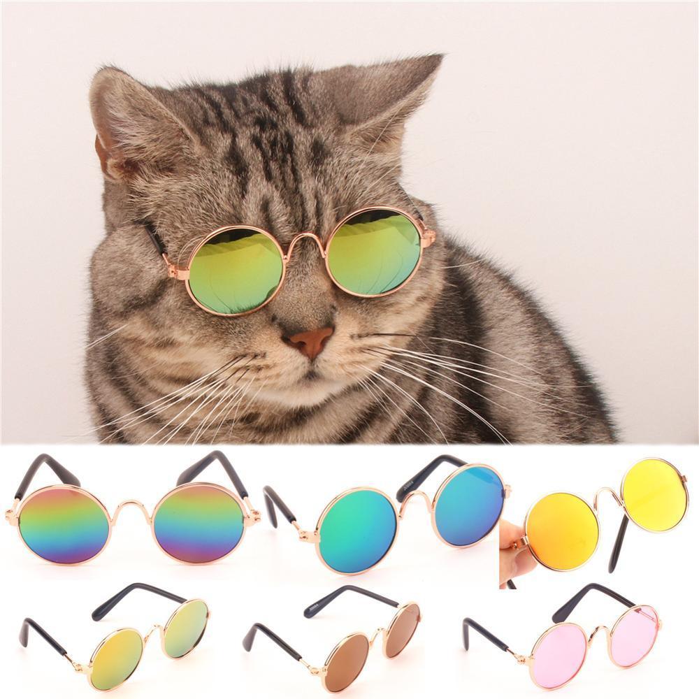 1 шт. прекрасный кошка очки собака очки Pet солнцезащитные очки для маленькой собаки Cat очки собака солнцезащитные очки Фото товары для животных