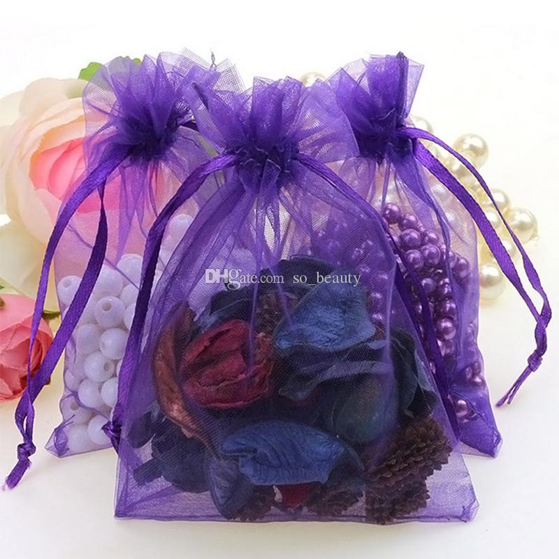 100pcs 5*7inch Organza Bags Jewelry Pouches Wedding Favors Christmas Party Gift Packing Bag 13 x 18 cm