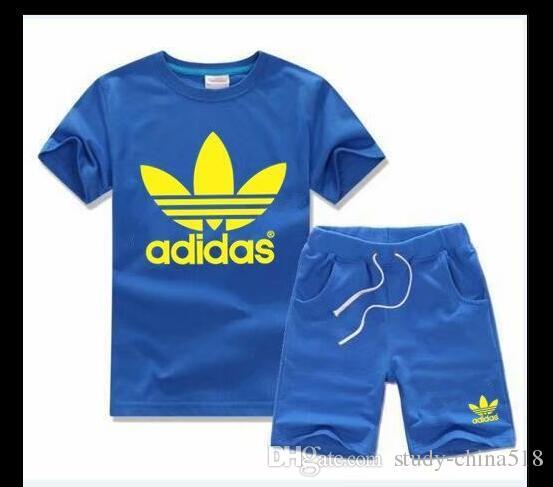 NUEVAS fotos de moda Marca para niños Juegos para niños Camiseta y pantalones cortos Pantalones Niños