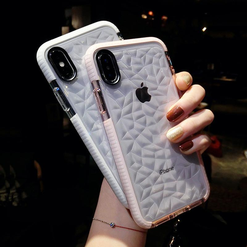 Luxury 3D Diamond Phone Cases For iPhone 11 Pro Max X XR XS Max Jelly Clear Soft TPU Shockproof Cover For iPhone SE 2020 7 8 6 6S Plus