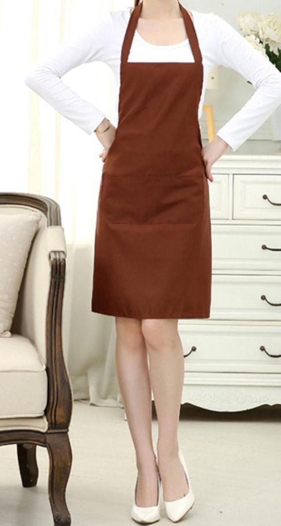 1pcsolid Uomini signora Woman Grembiule della cucina della casa Chef Grembiuli casa senza maniche Grembiule Ristoranti Cucina cottura Fashion Dress