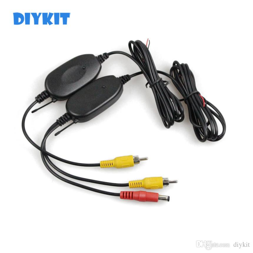 DIYKIT 2.4 G Wireless RCA Video Transmitter Receiver Car Rear View System for Car Backup Camera and Car Monitor