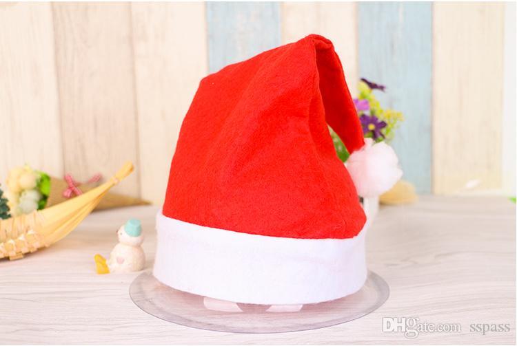 Горячие продажи Красный цвет Санта-Клаус Hat Ультра Мягкие Плюшевые Рождественские Косплей Шляпы Партийные Шапки для Новогоднего Украшения